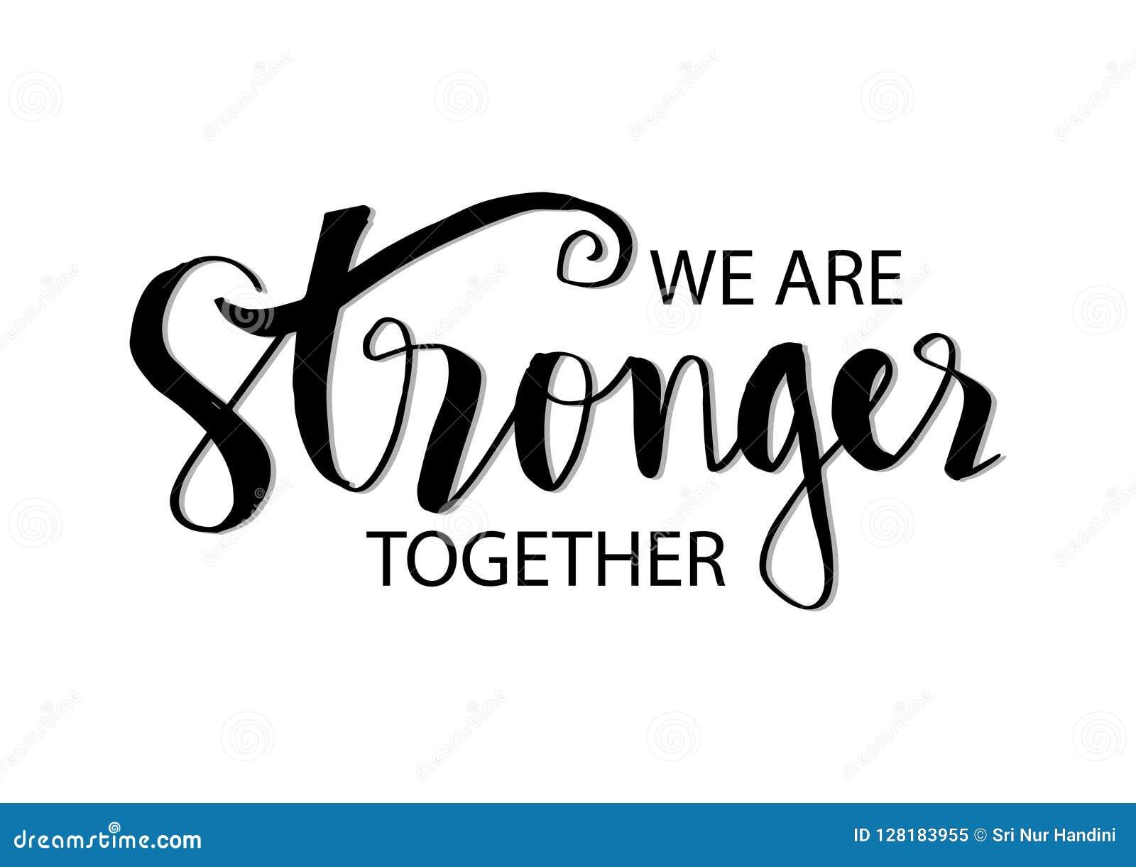 Wij zijn samen sterker