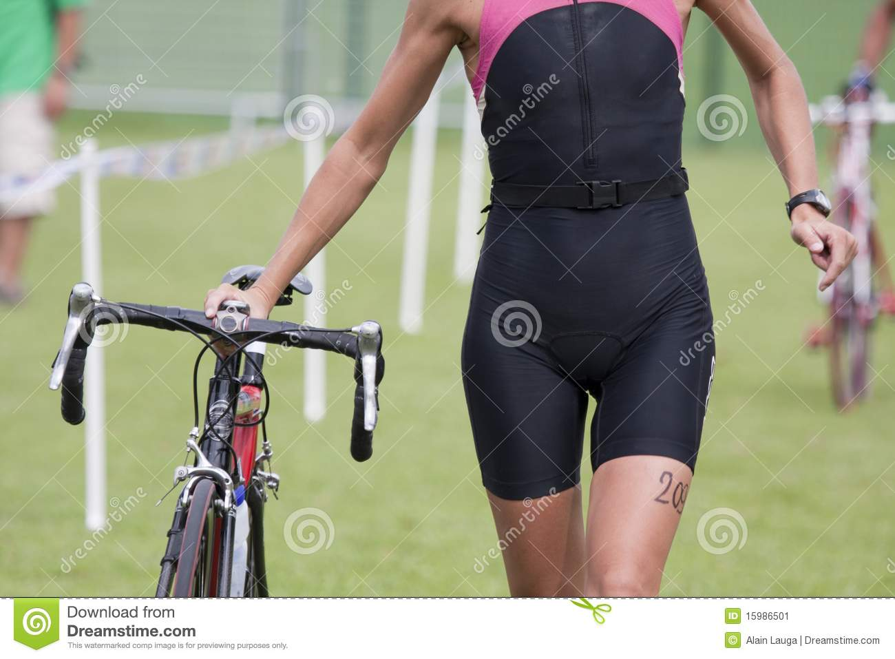 Wijfje triathlete