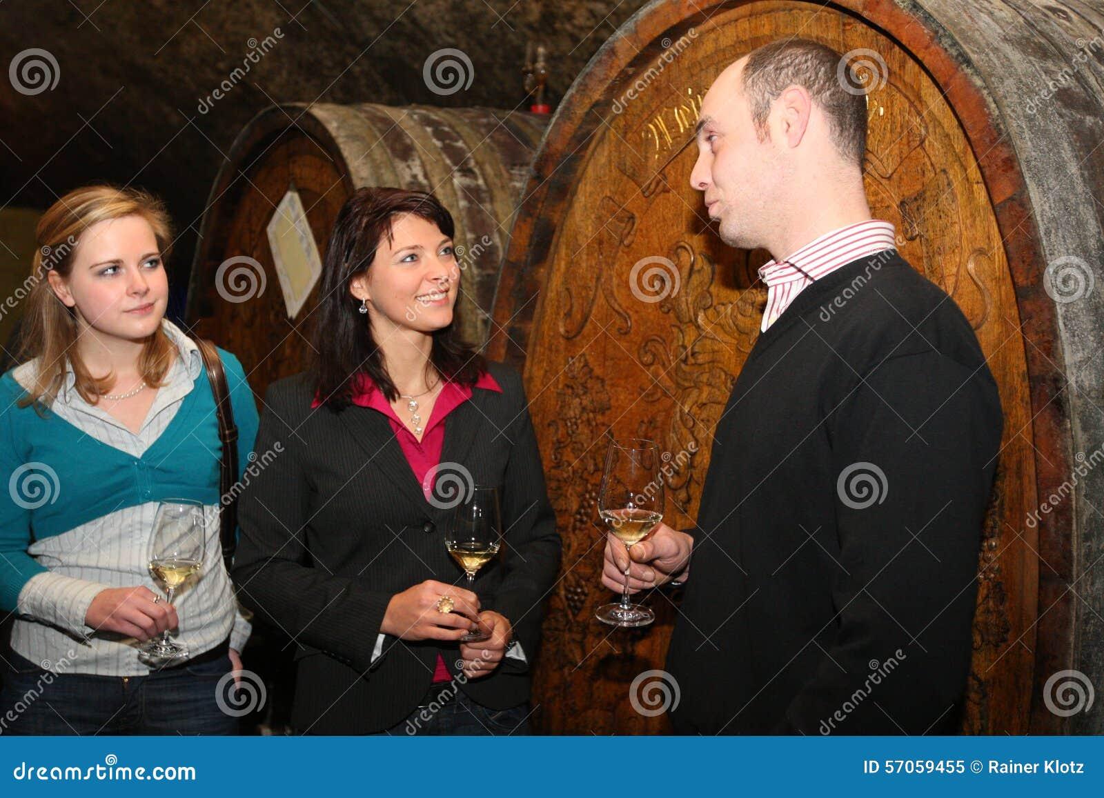 Wijn het proeven in Rheingau