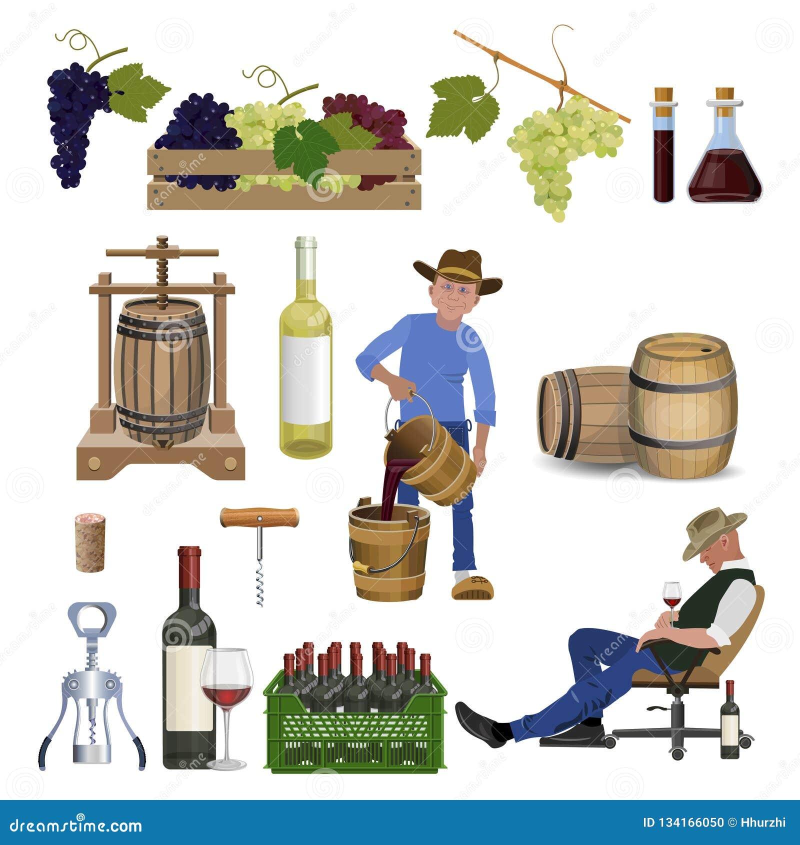 Wijn vastgestelde vector