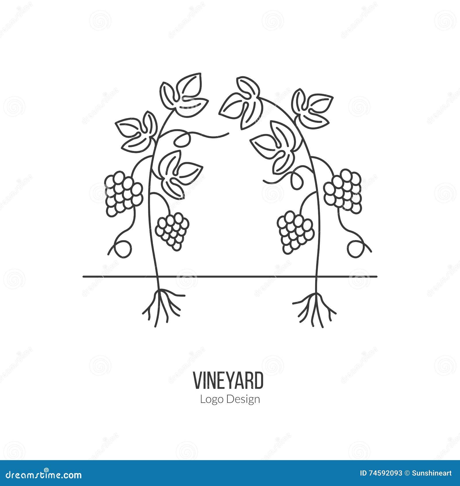 Wijnbereiding, wijn het proeven logotype ontwerpconcept