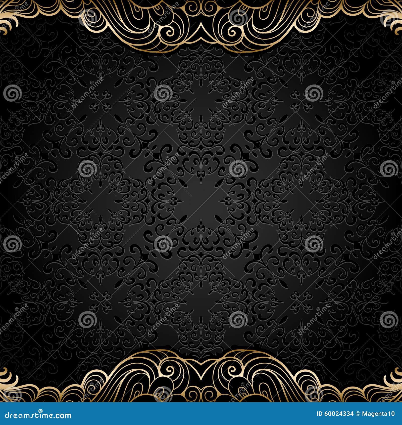 Wijnoogst backgjround met gouden grenzen vector illustratie afbeelding 60024334 - Wijnoogst ...