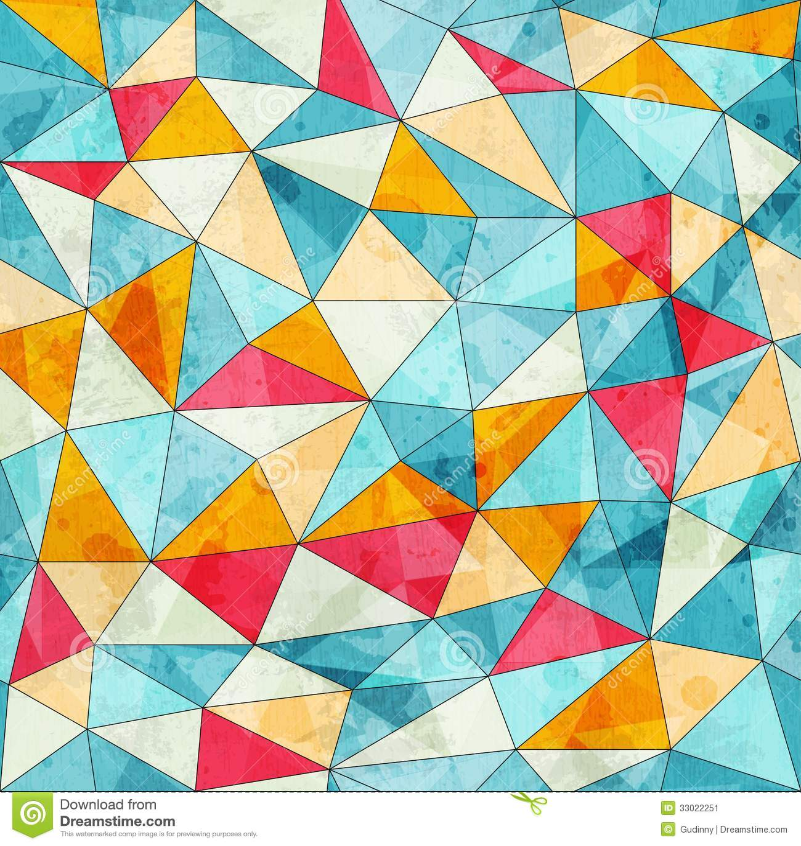 Wijnoogst gekleurd driehoeken naadloos patroon met grungeeffect stock afbeelding afbeelding - Wijnoogst ...