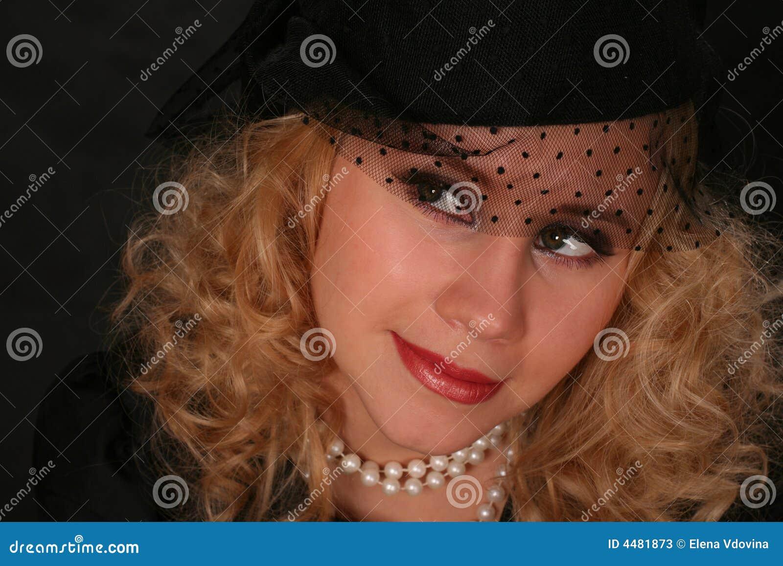Wijnoogst gestileerd portret van een vrouw stock foto 39 s afbeelding 4481873 - Wijnoogst ...