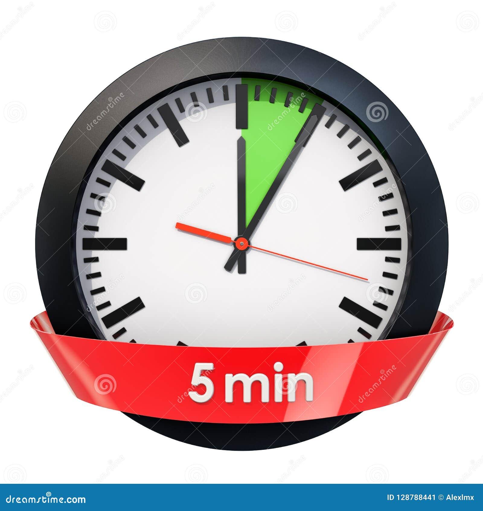 Wijzerplaat met 5 minuten tijdopnemer het 3d teruggeven