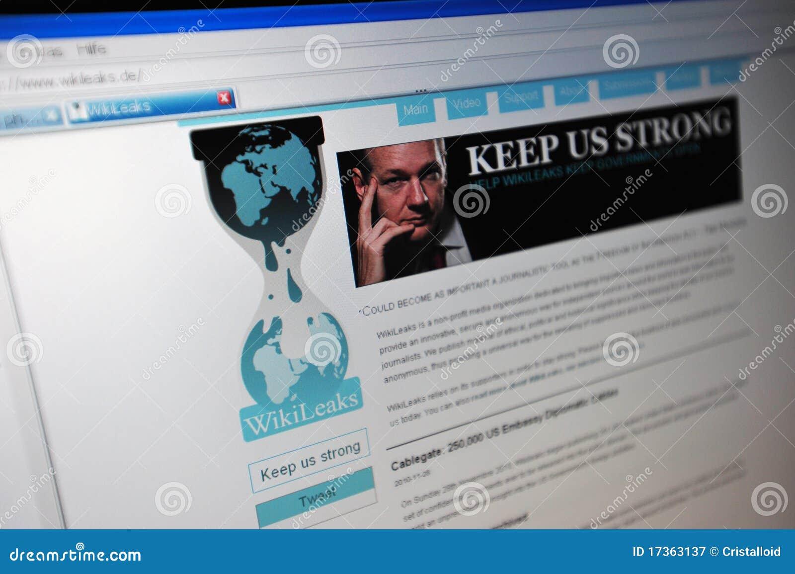 Wikileaks.de main internet page