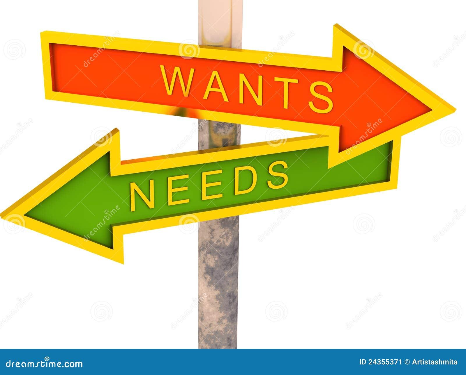 Wil versus behoeften
