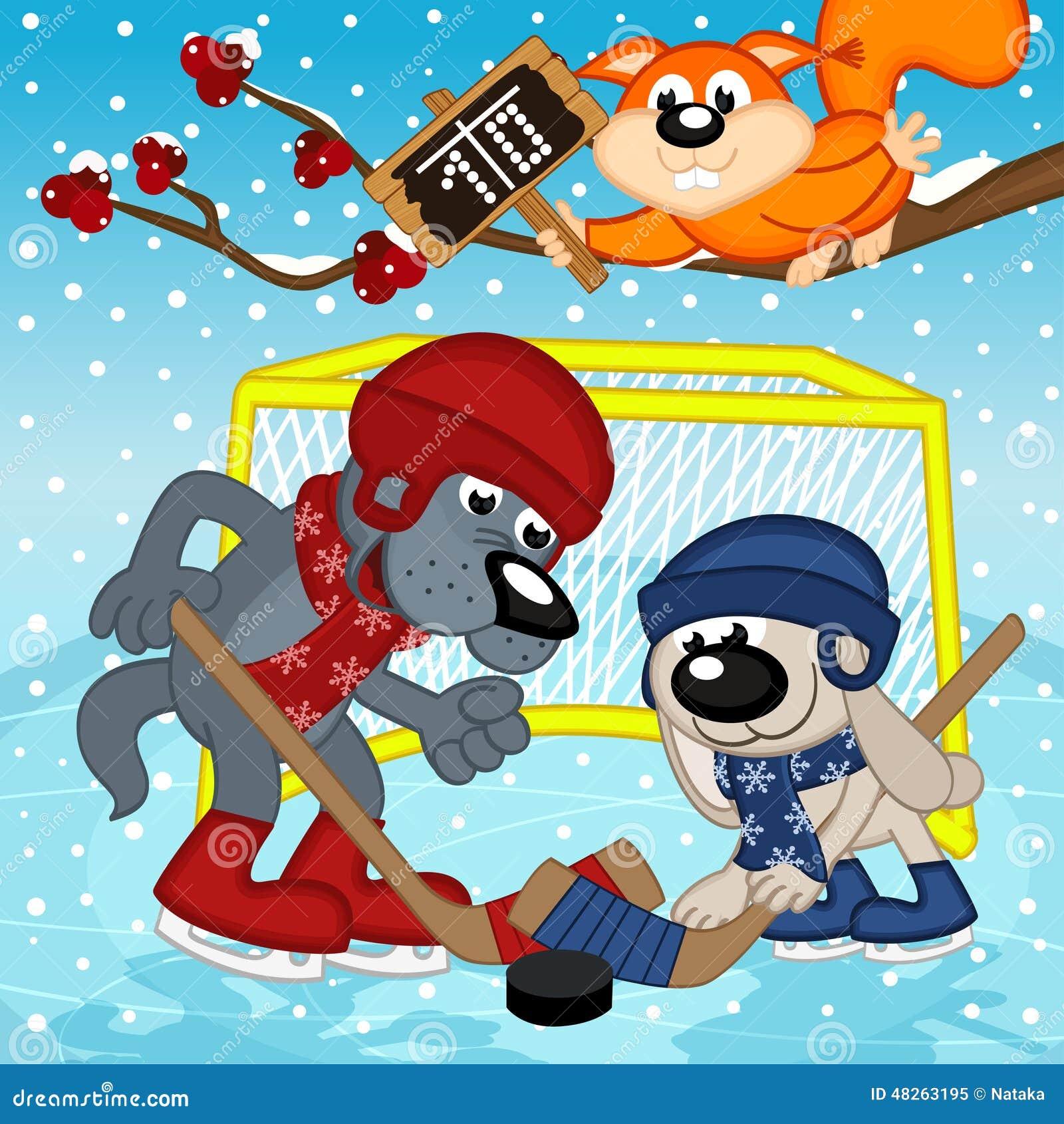 Wilczy królik sztuki hokej