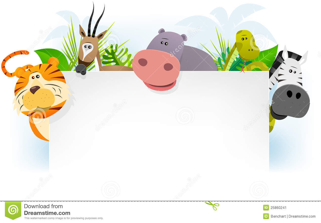 wild african animals background stock vector - illustration of