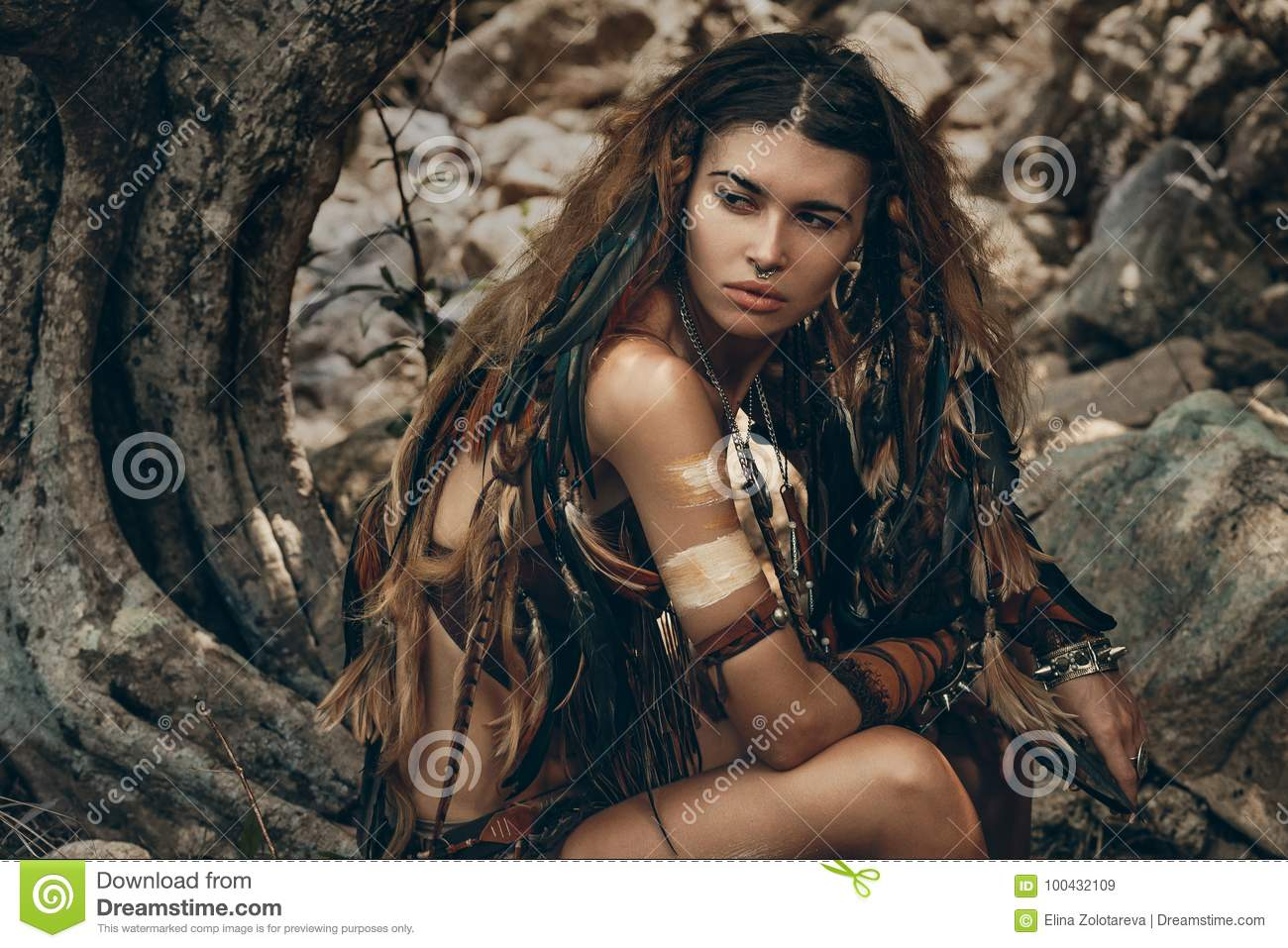 Women of the Amazon tribes. Wild tribes of the Amazon
