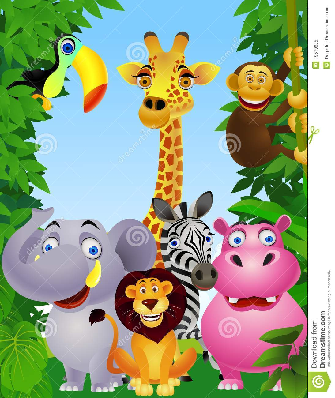 Royalty Free Stock Photo: Wild animal cartoon. Image: 19579685