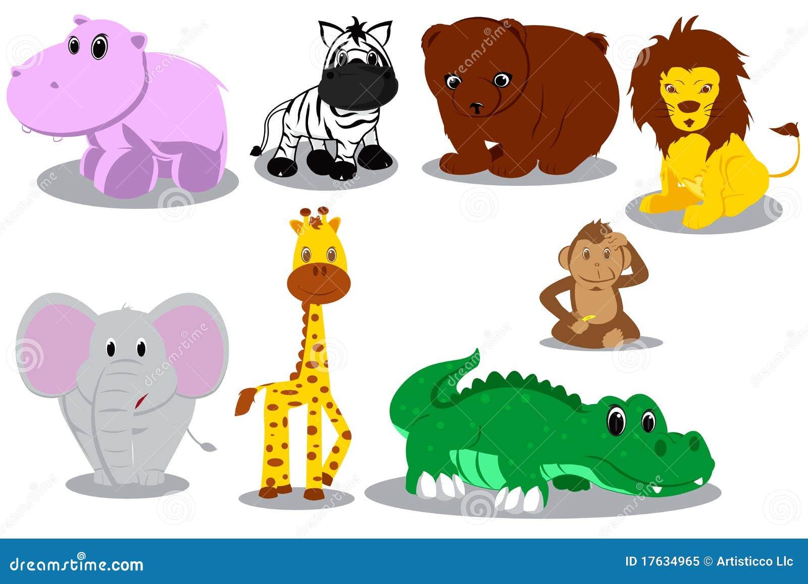 Wild Animal Cartoons Stock Vector Illustration Of Monkey