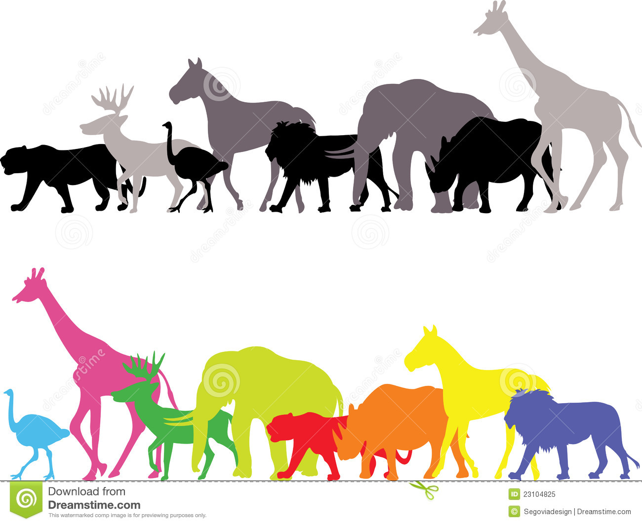 Wild Animal Silhouette Royalty Free Stock Photo - Image: 23104825