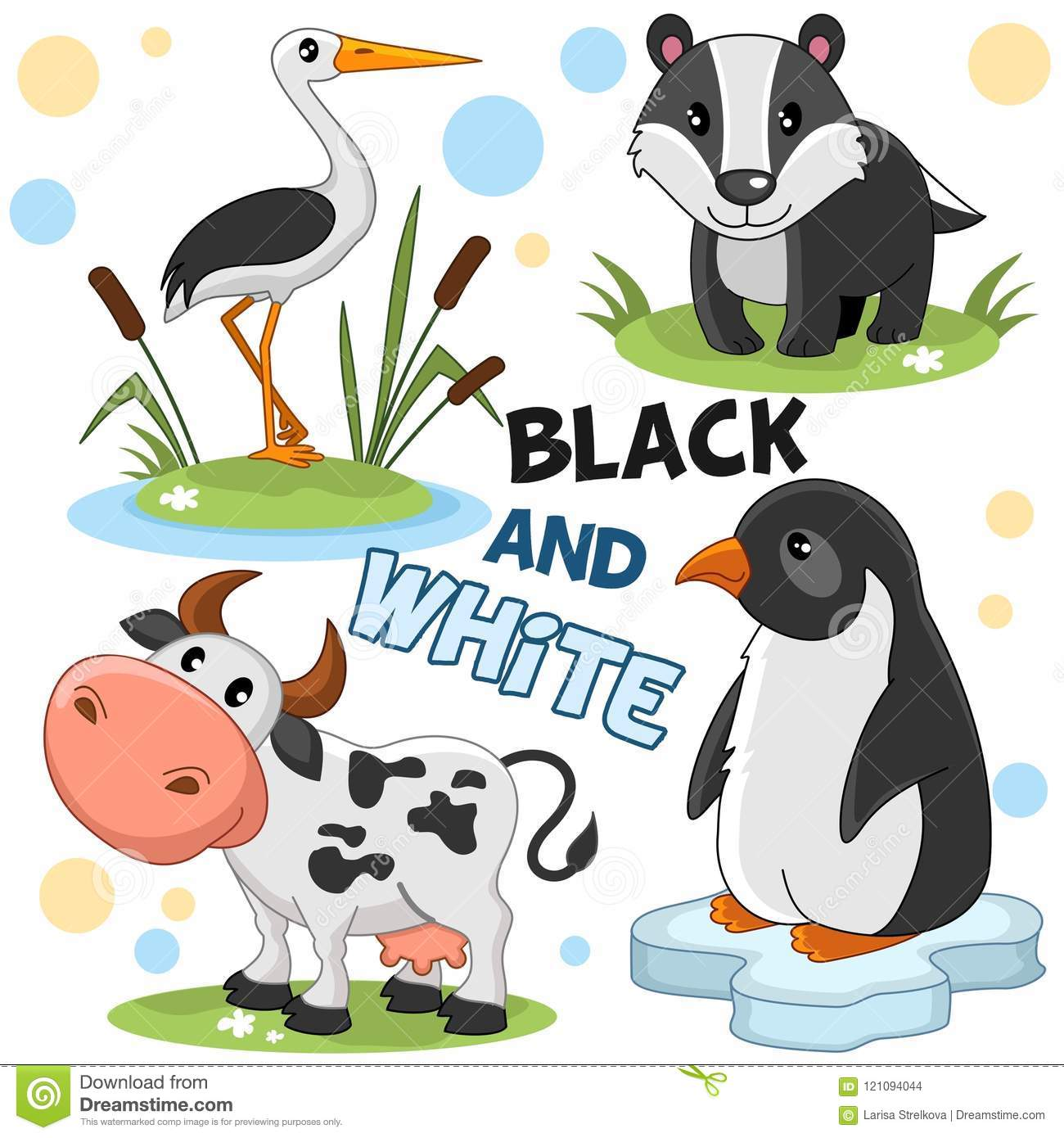 Wild Animals Are Black And White 2 Stock Vector Illustration Of