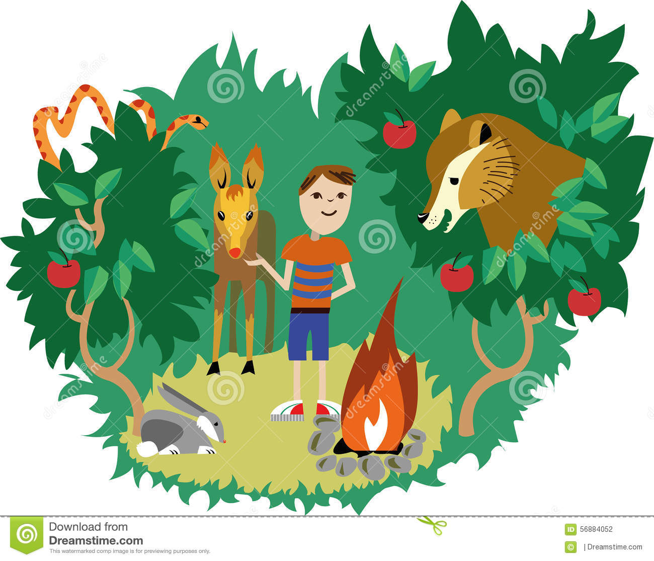 wild animals and human stock photo image 56884052 clip art vacation camping images clipart vacation car