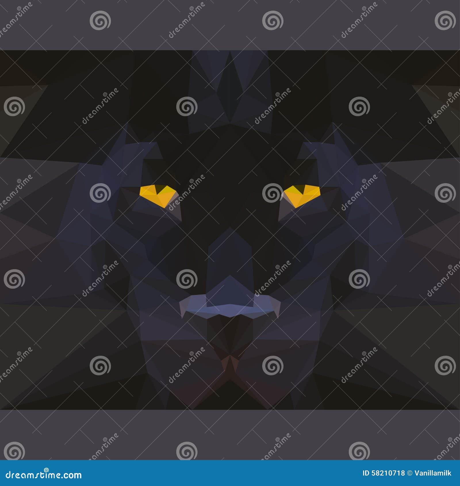 Roaring Lion Profile Tattoo Simple Black Panther H...