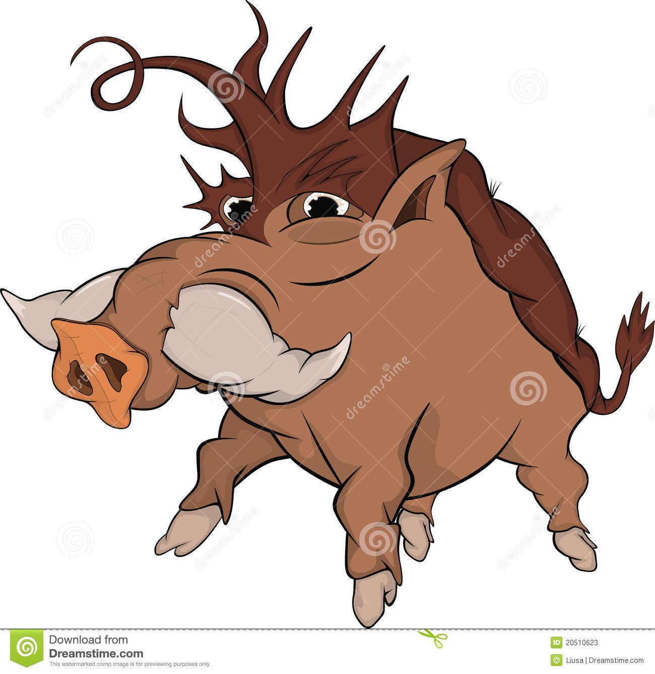 Wild Boar Cartoon Stock Photos Image 20510623