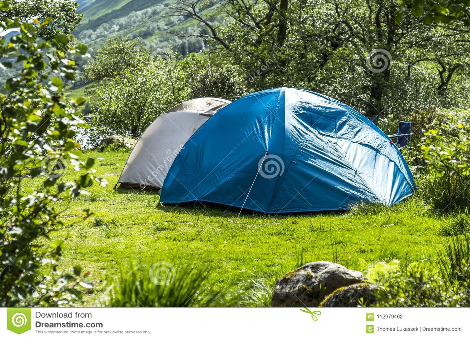 Wild camping in the wildernis of Glen Etive, Scotland