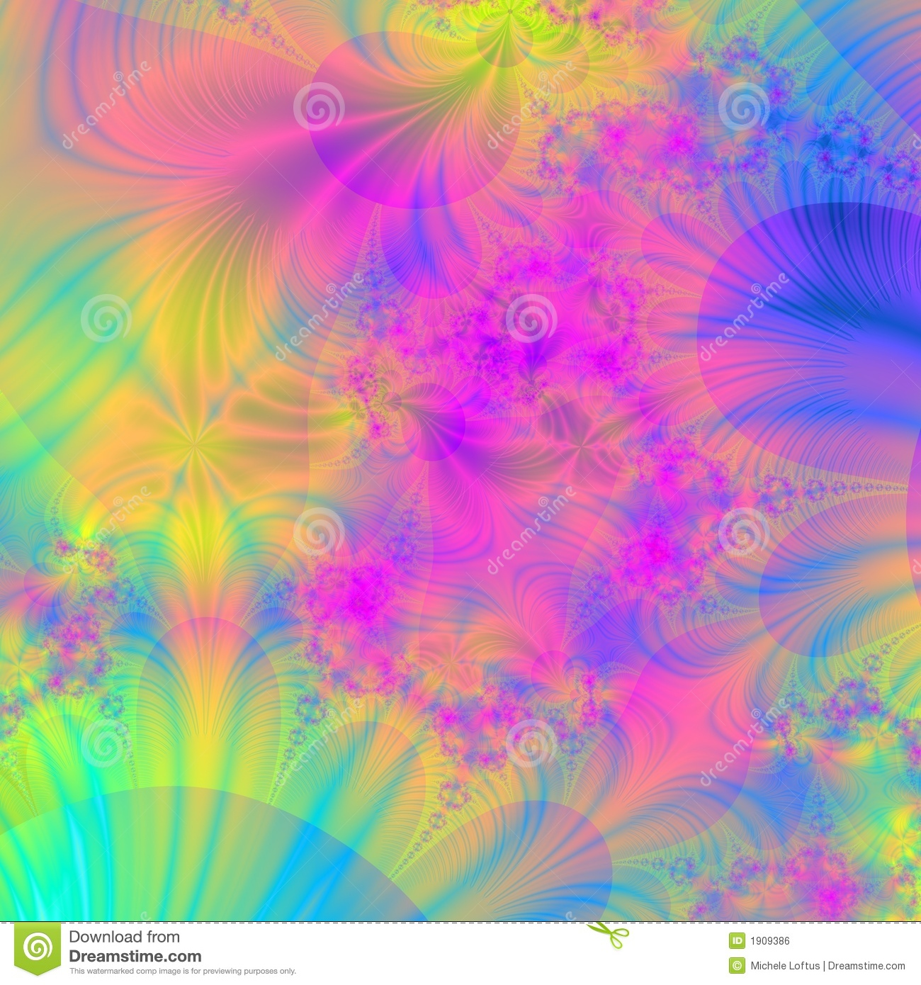 Wild And Colorful Background Or Wallpaper Stock Illustration