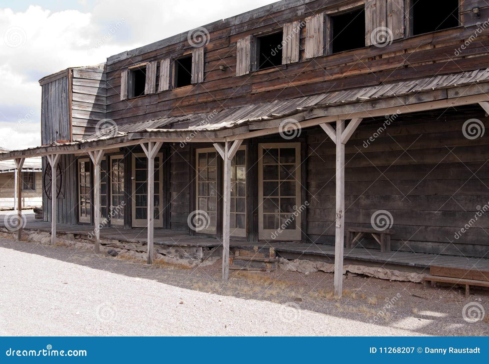 Wild för USA för gammal town för cowboy västra