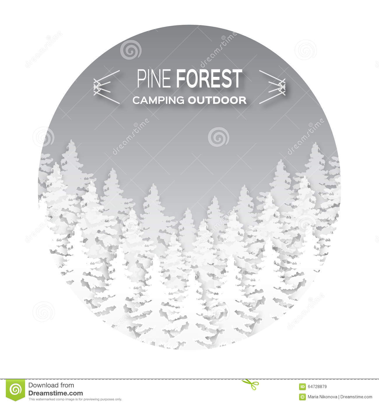 Wild forest background. stock vector. Illustration of natural - 64728879