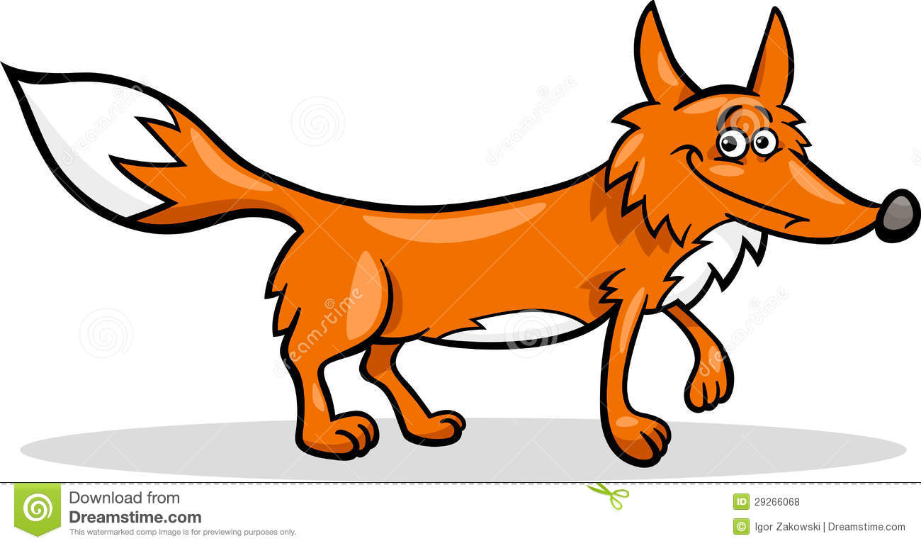 Wild Fox Cartoon Illustration Royalty Free Stock Photos - Image ...