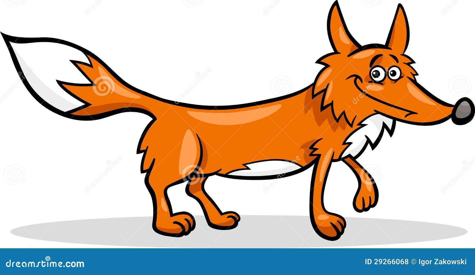 Wild fox cartoon illustration stock vector illustration - Clipart renard ...