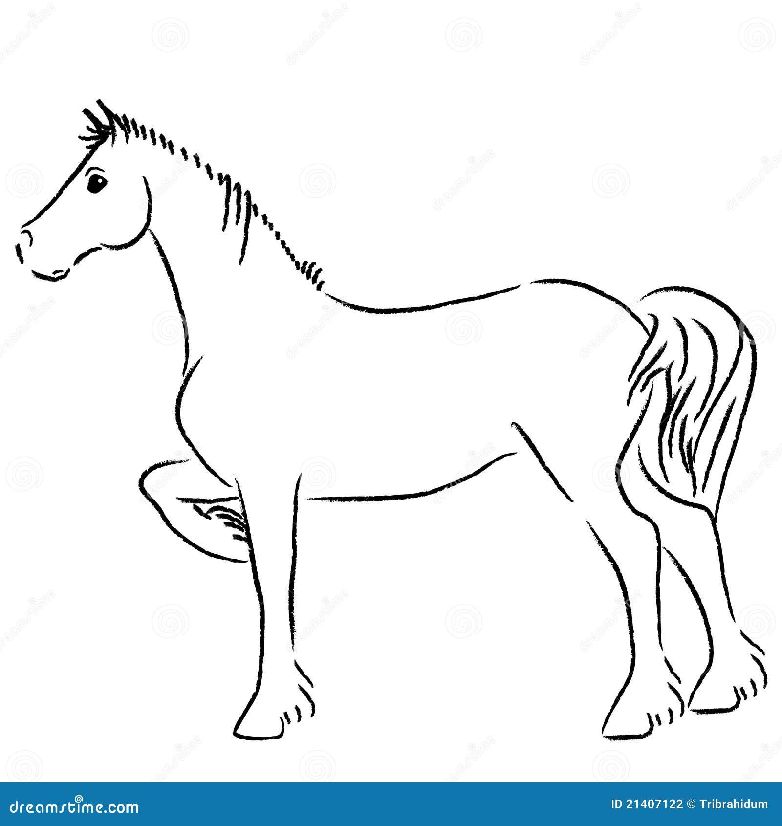 Wild Horse Painting Stock Illustration. Illustration Of