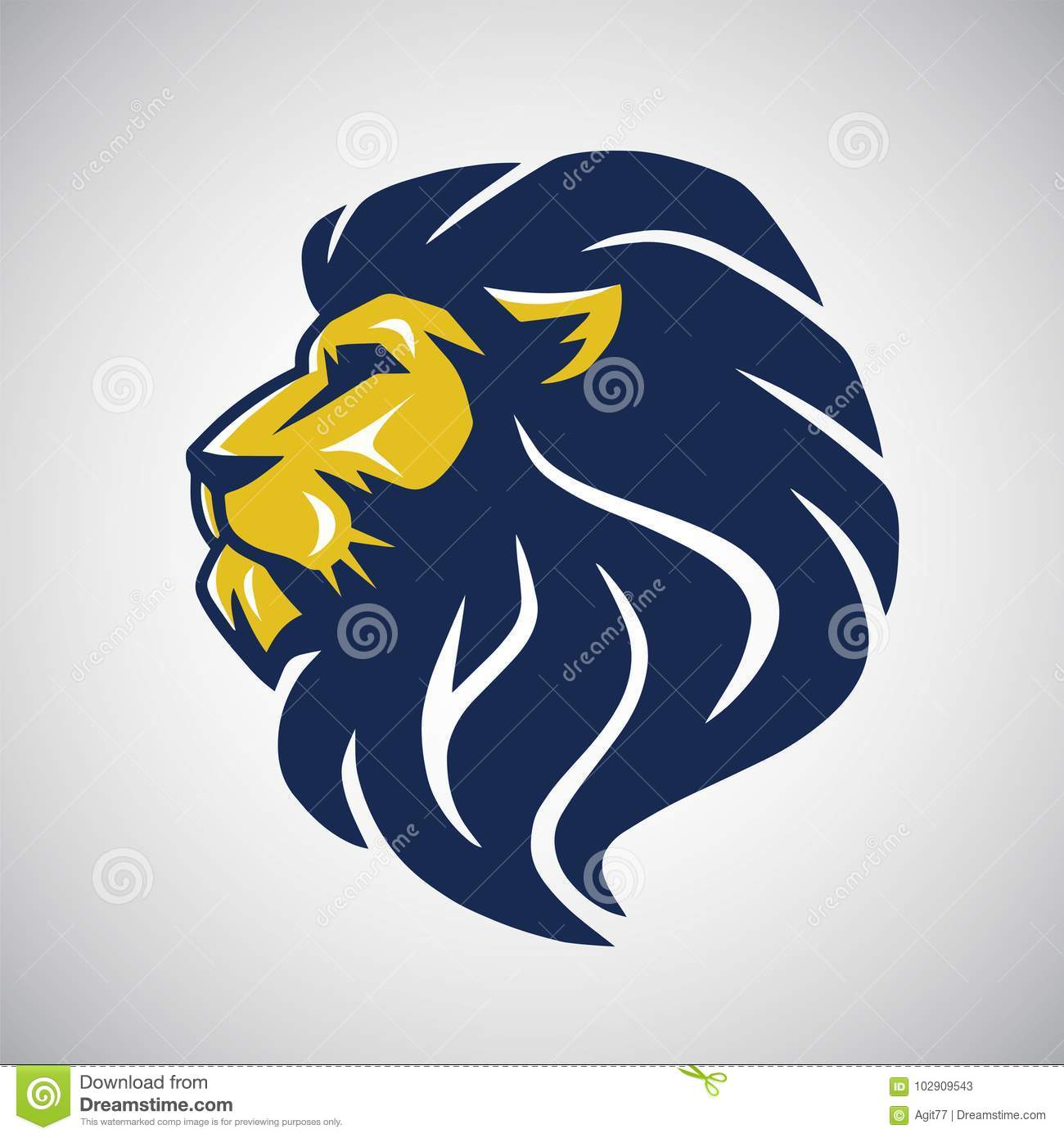 wild lion vector icon cool logo template stock vector illustration