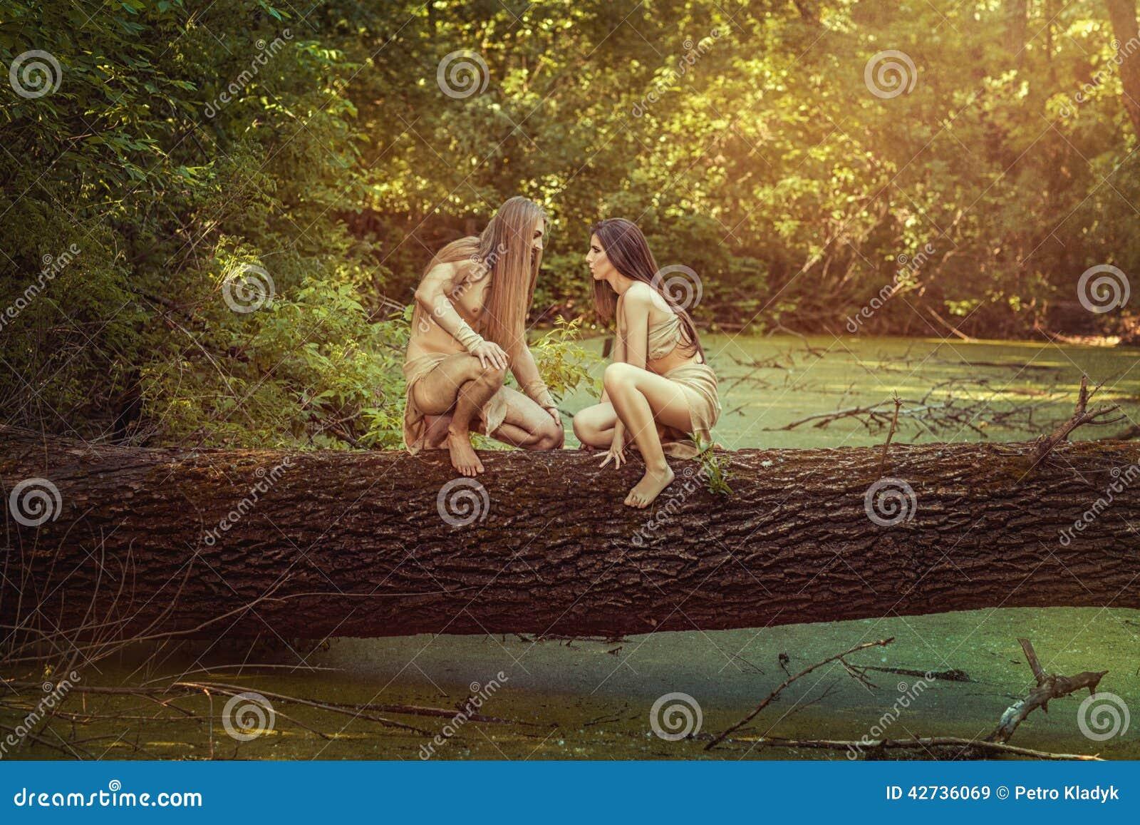 Wild men in the woods stock photo image 42736069