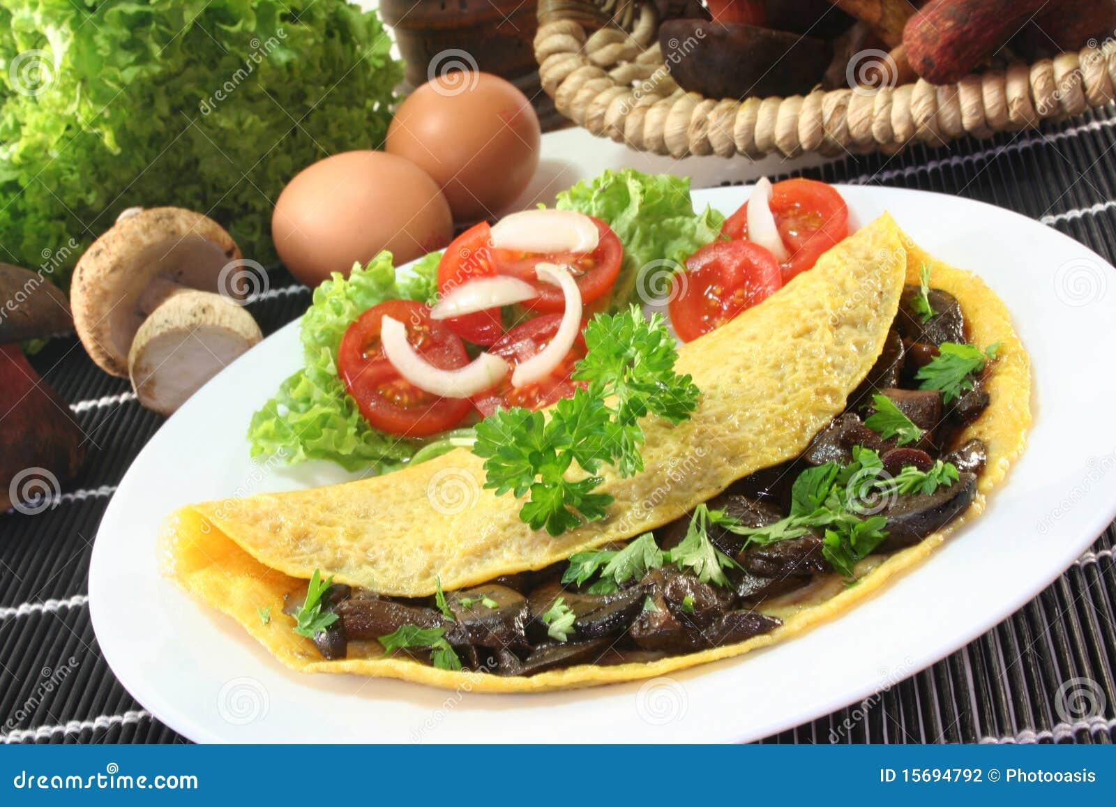 Wild Mushroom Omelet Stock Photography - Image: 15694792