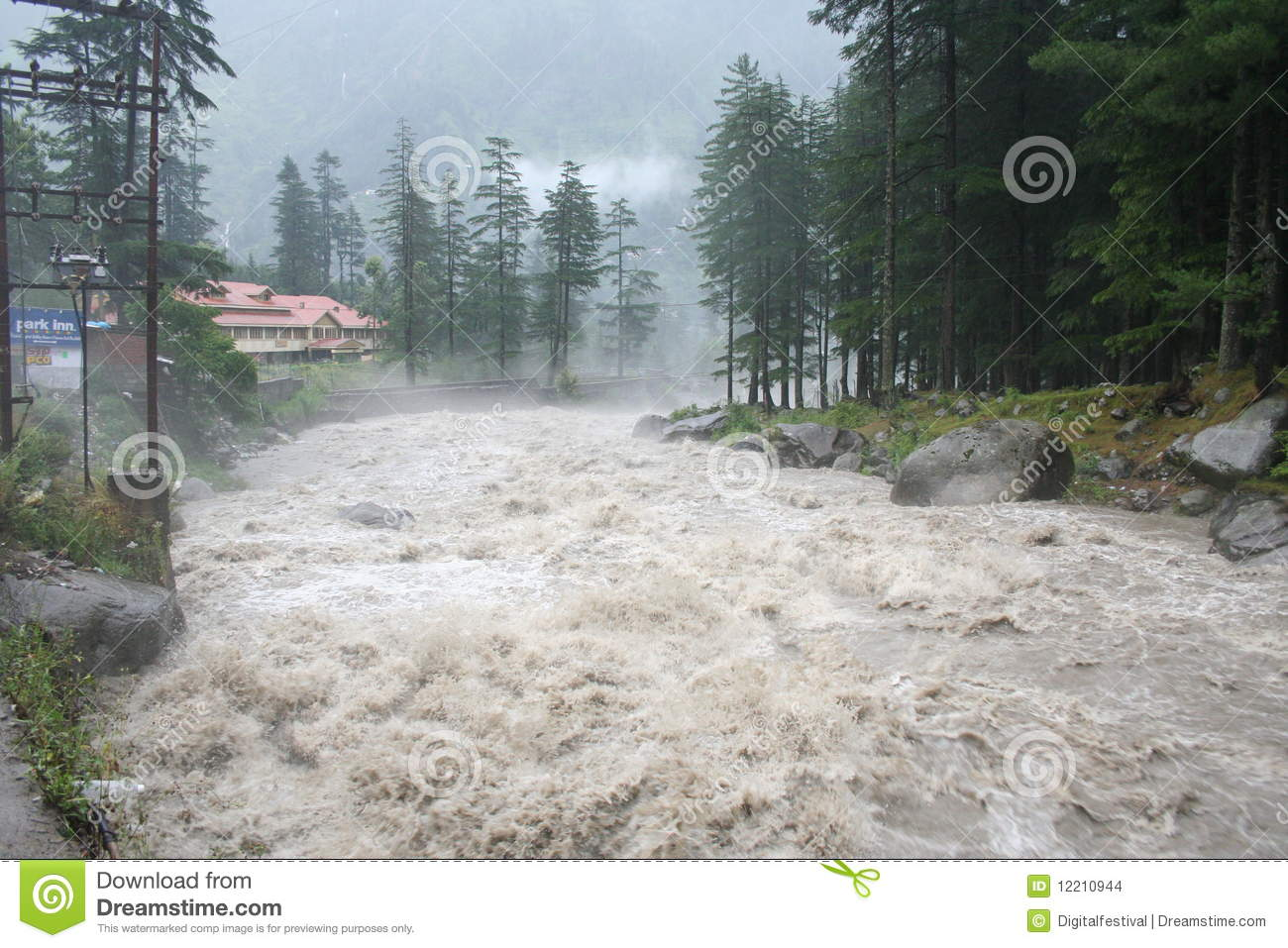 The Wire Torrent >> Wild Raging Himalayan River Torrent Manali India Stock ...