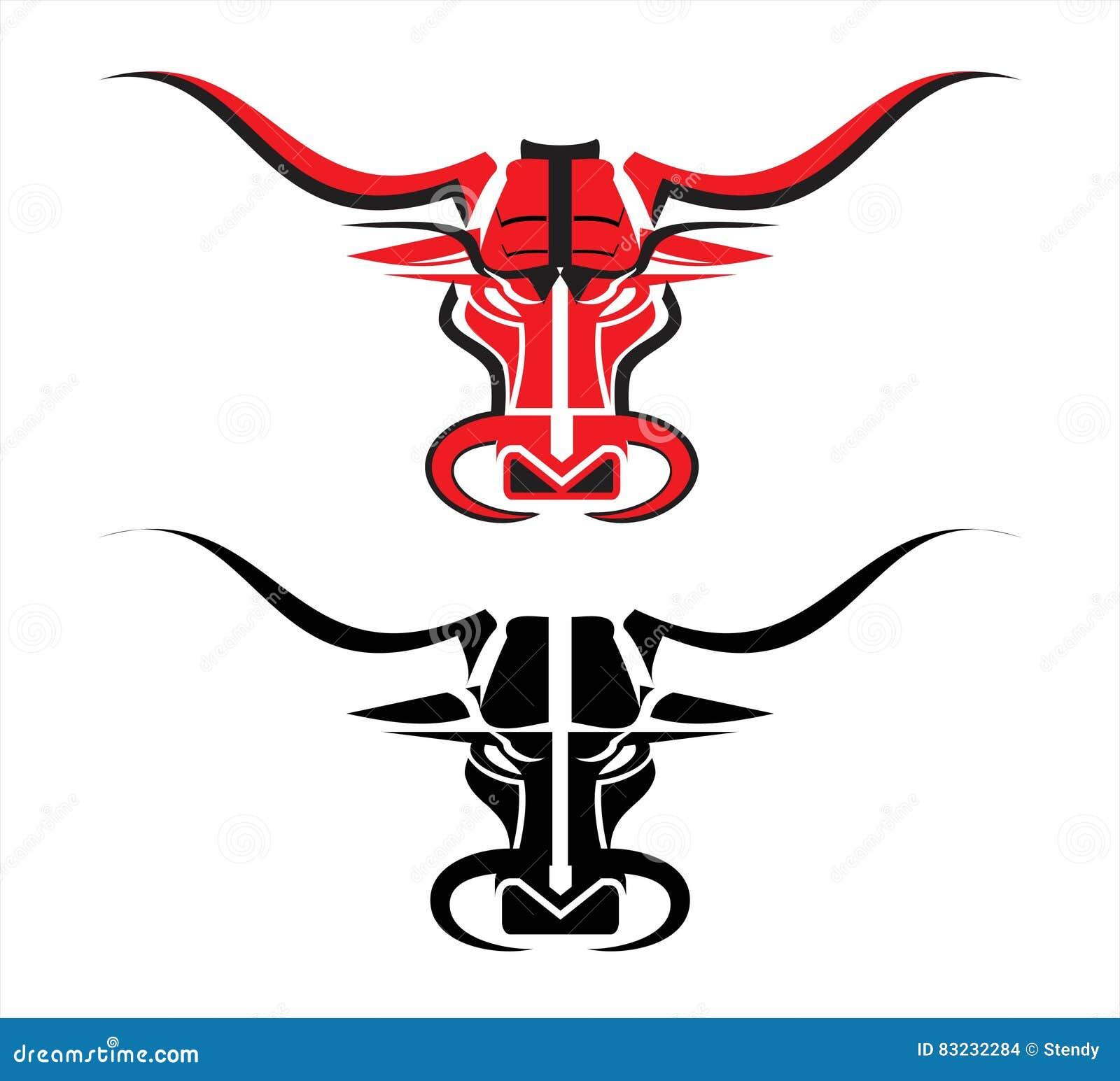 wild red bull stock vector illustration of black high 83232284