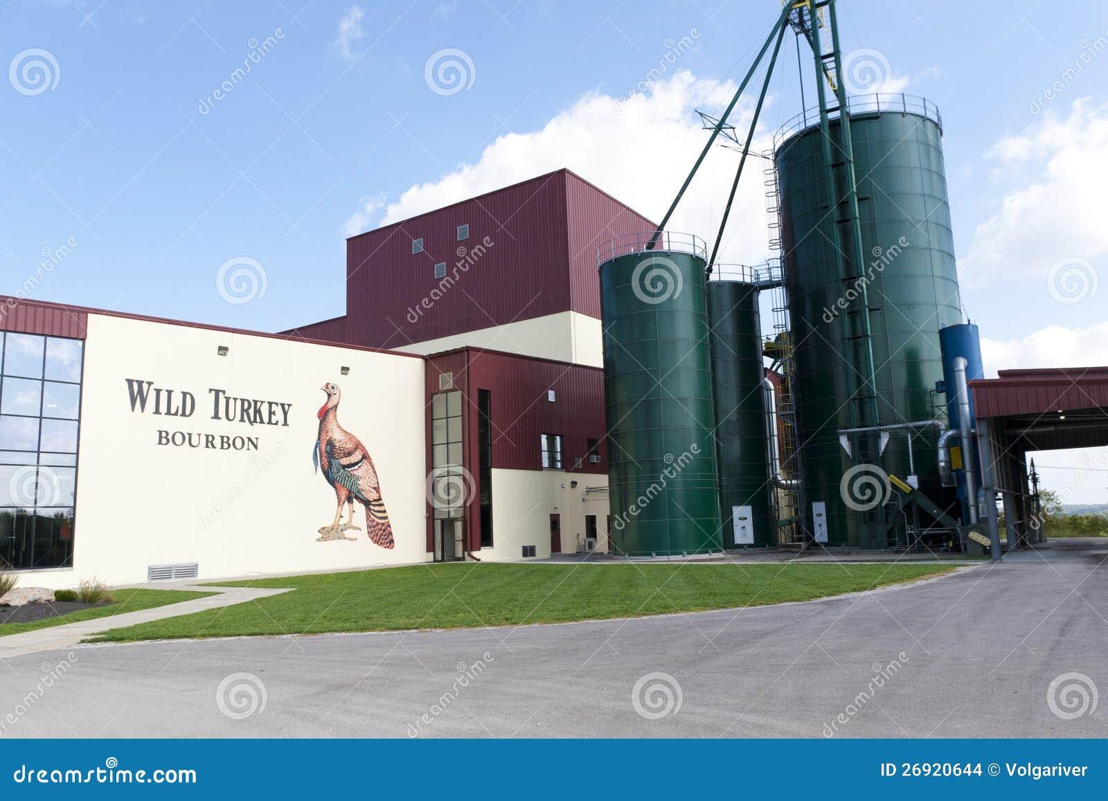Wild turkey bourbon distillery editorial stock image for Kentucky craft bourbon trail