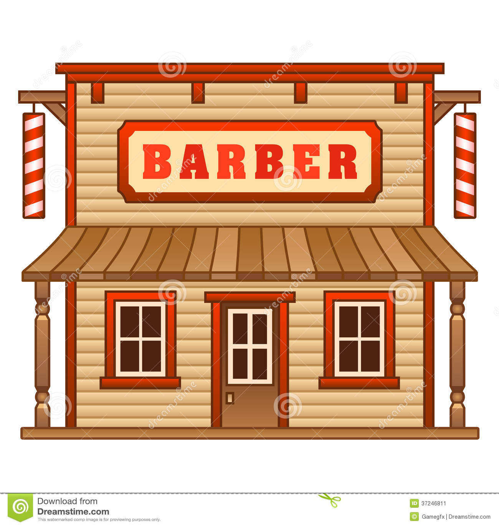 Wild West Barber Shop Stock Image - Image: 37246811