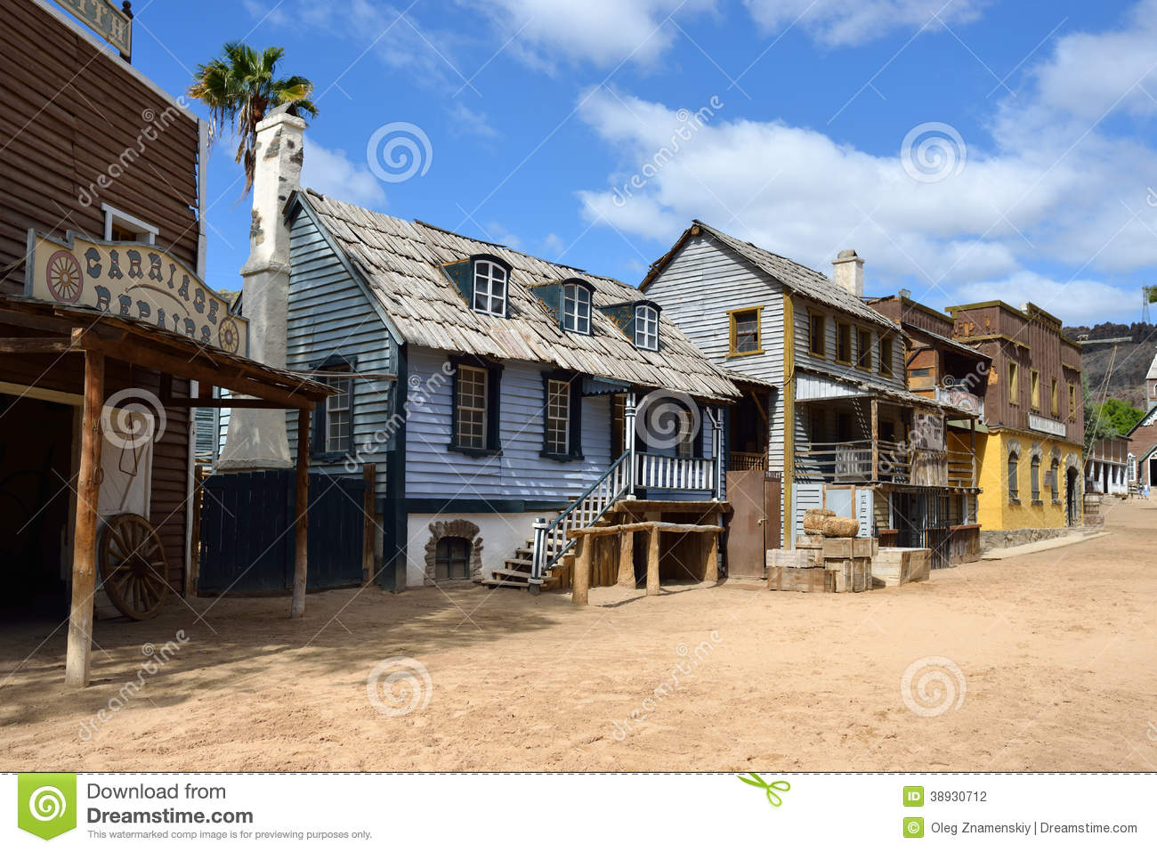 Western Town Background Clipart