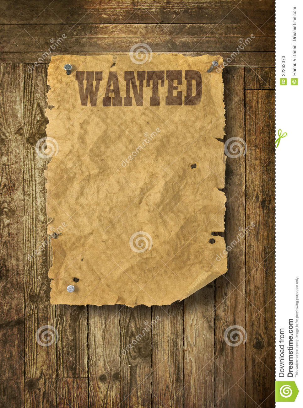 Wild West Wanted Poster Stock Photos Image 22263373