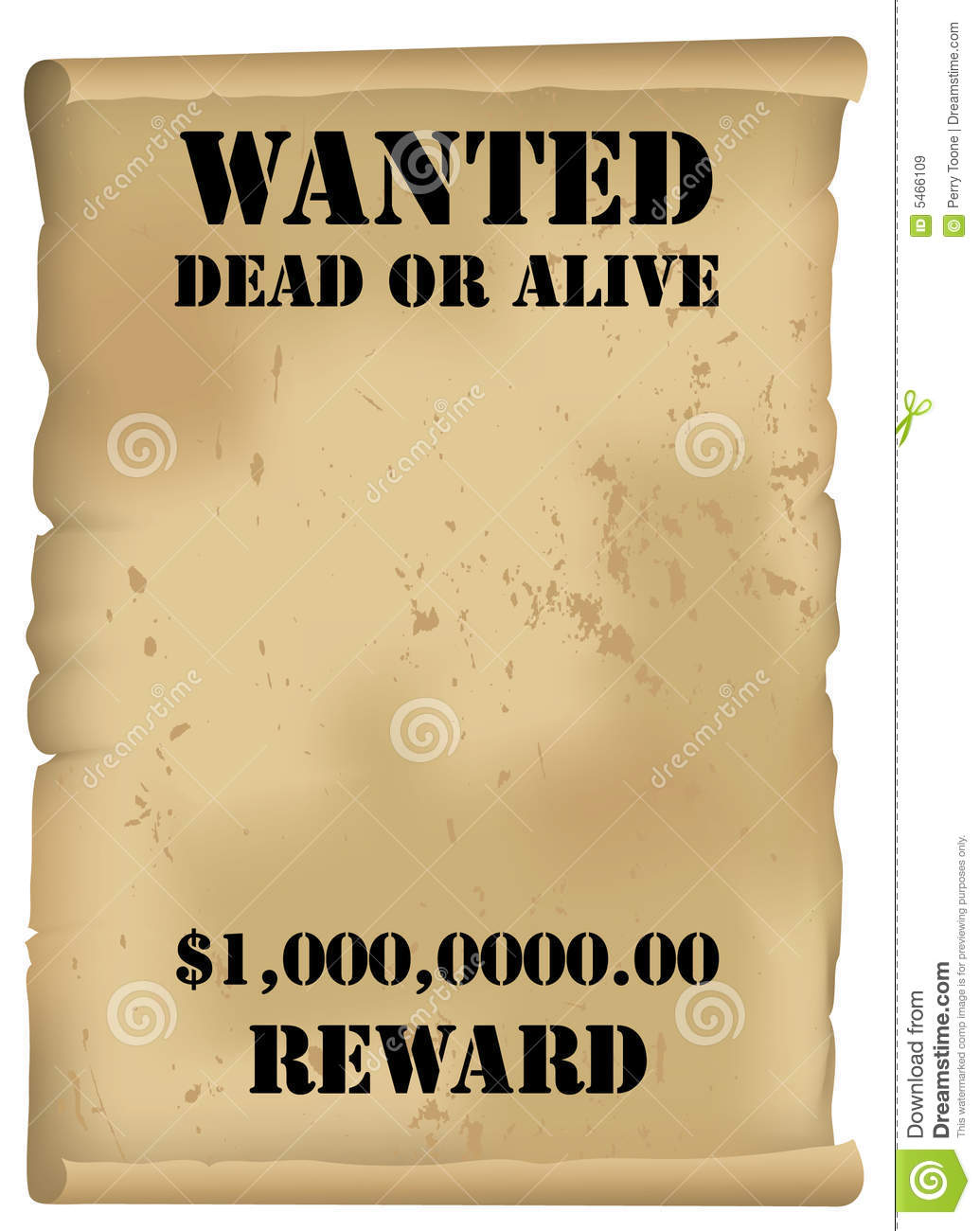 Wild West Wanted Poster Royalty Free Images Image 5466109 – Wanted Poster Free