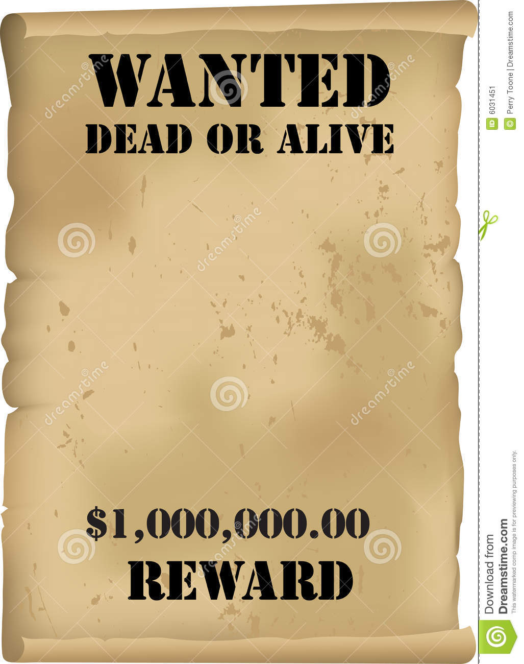 Blank Wanted Poster Template  Printable Wanted Posters