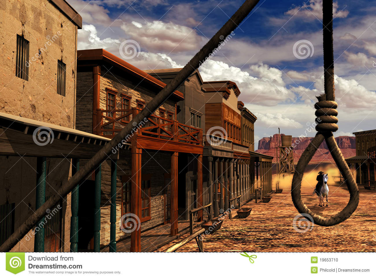 Wild Western Town Stock Photo - Image: 19653710