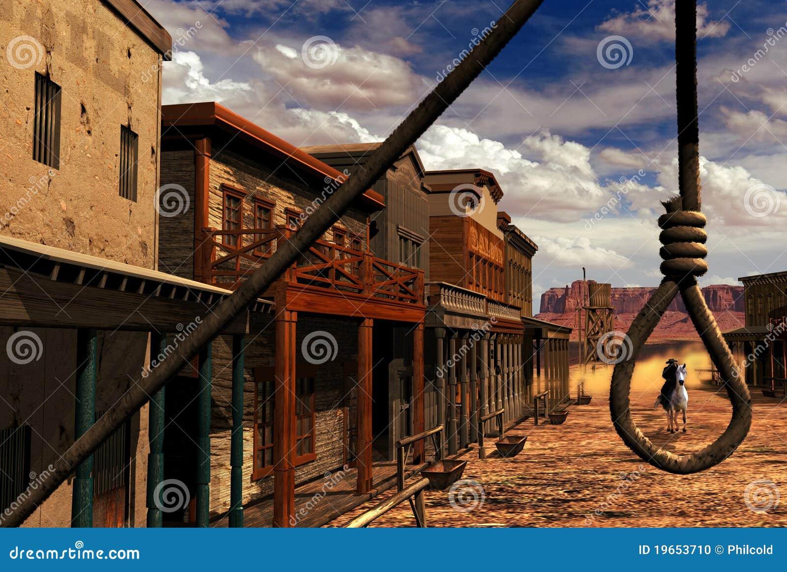 Wild western town