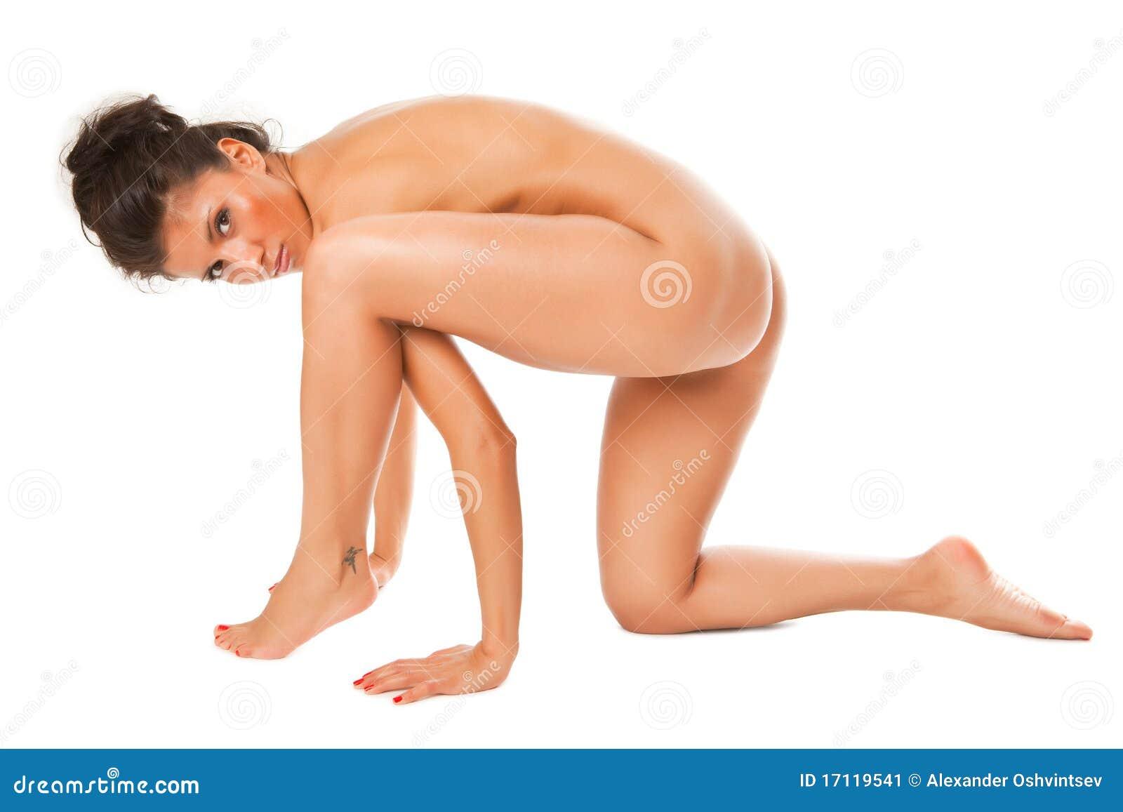 Naked brunette long hair sunbathing pussy ass 4