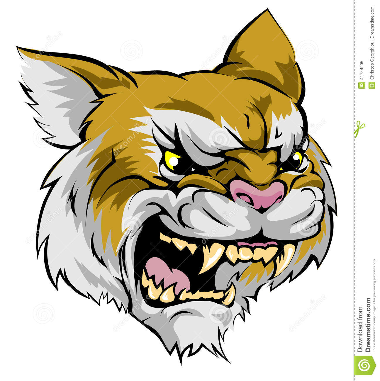 Wildcat Mascot Character Stock Vector Illustration Of Clipart
