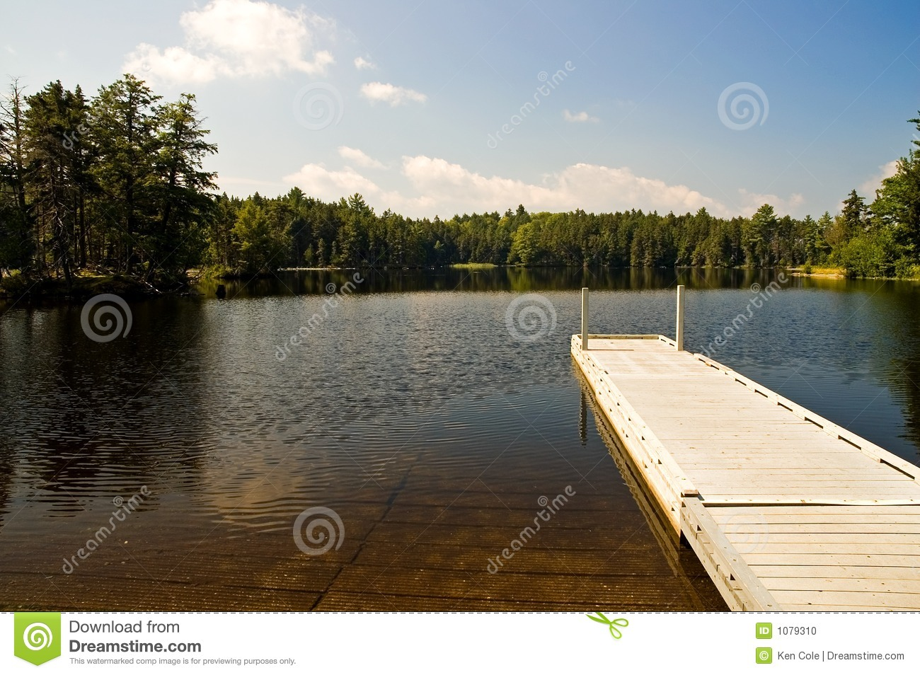 Wilderness Dock And Boat Ramp Stock Photo - Image: 1079310