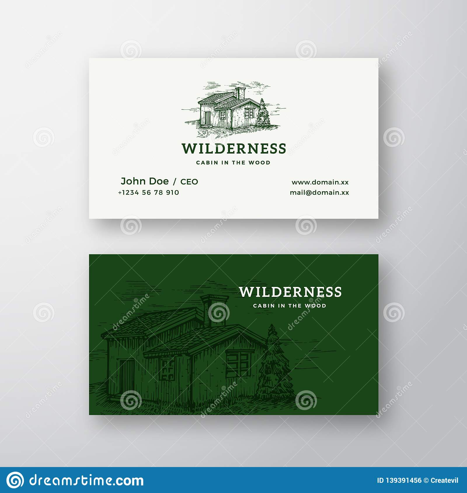 Wilderness Wood Abstract Vintage Vector Logo And Business