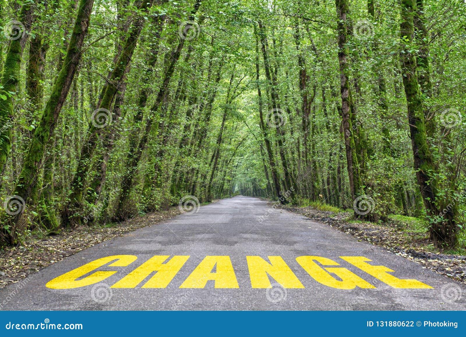 Wildernisweg om te veranderen