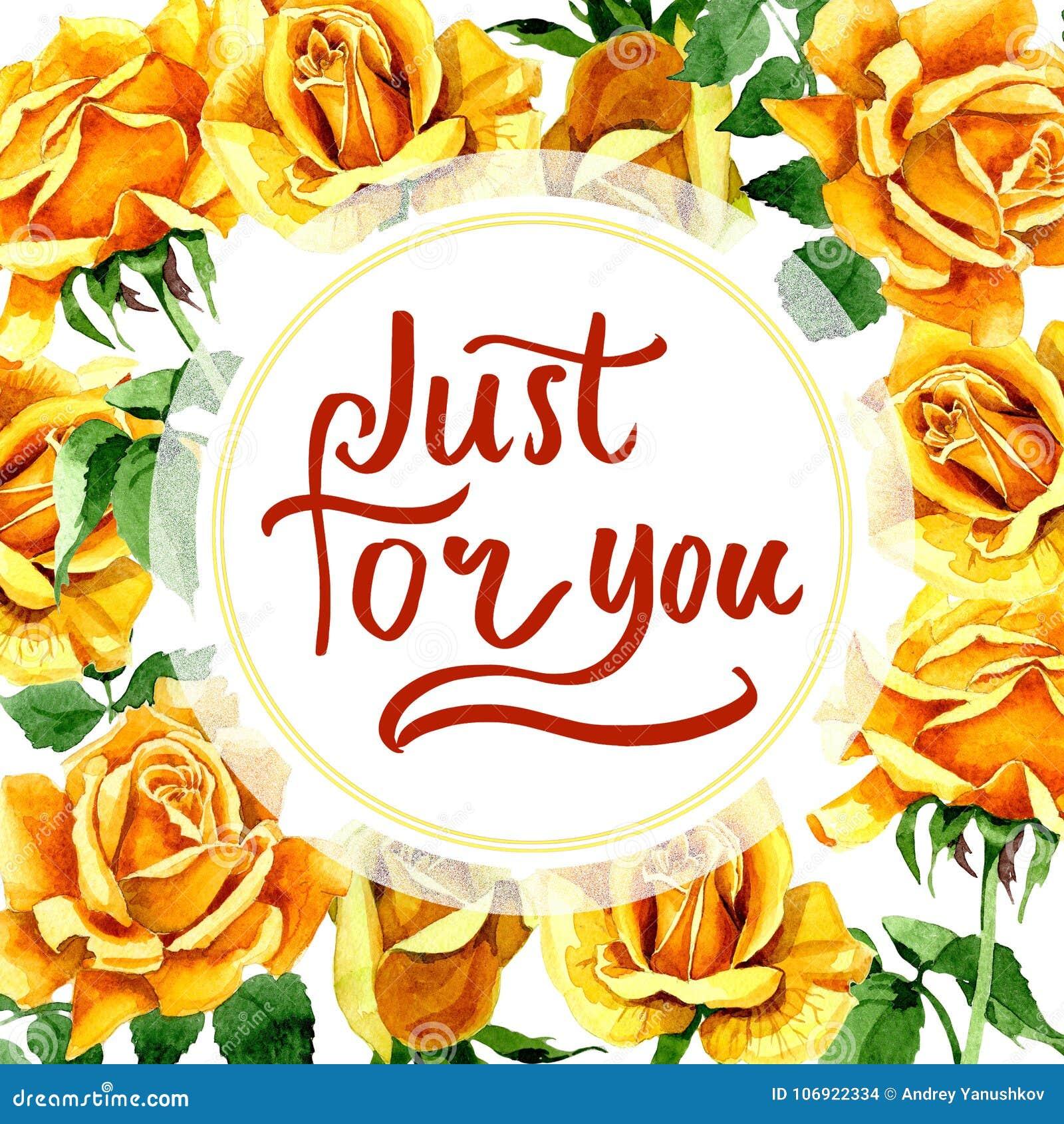 Wildflower róży kwiatu rama w akwarela stylu