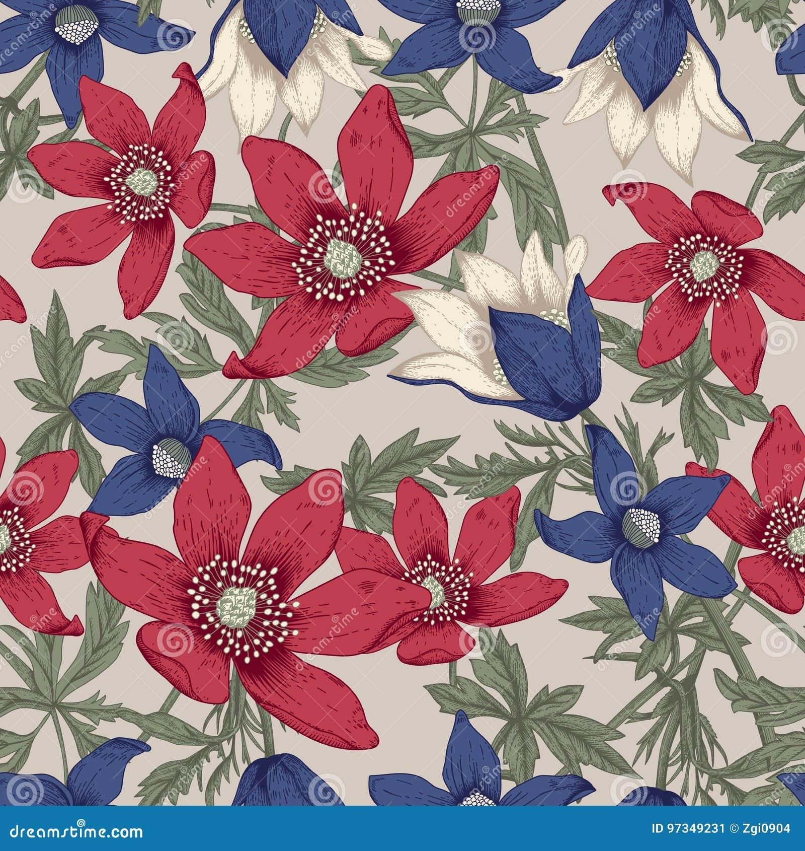 Wildflowers Illustrazione di vettore nello stile dell annata cartolina festiva
