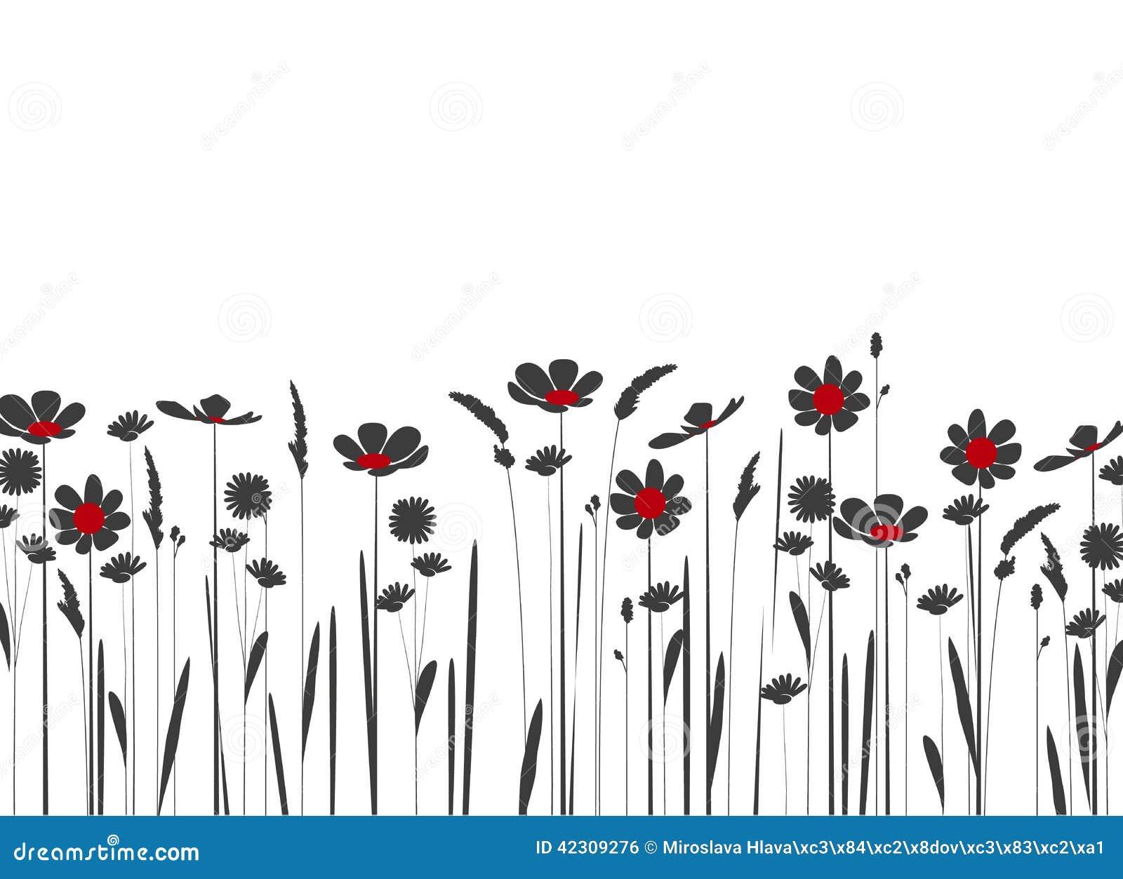 Wildflowers Stock Vector - Image: 42309276