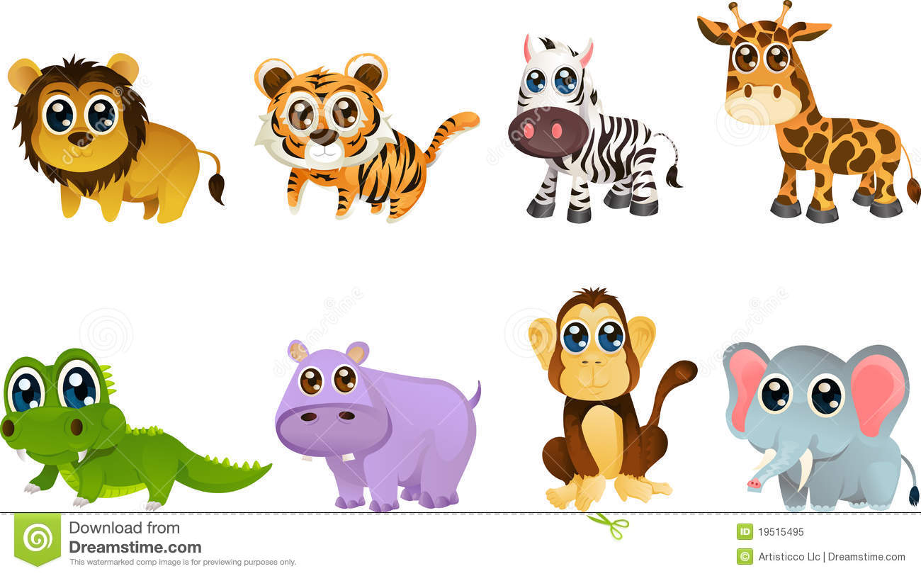 wildlife animal cartoons royalty free stock photo image 19515495